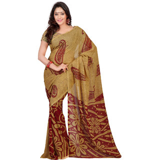 Florence Multicolor Faux Georgette Printed Saree (FL-10465)