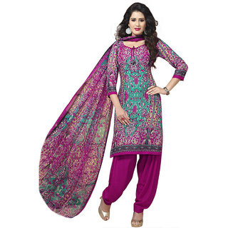 Varsha 3 Piece Printed Synthetic Georgett Monsoon Premium Classic Dress Material