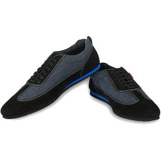 Ysmipl Men's Black Lace-Up Casual Shoes