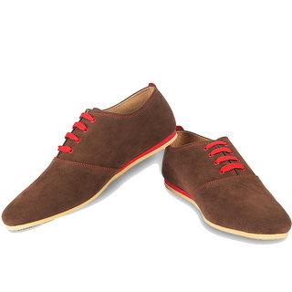 Ysmipl Men's Brown Lace-Up Casual Shoes