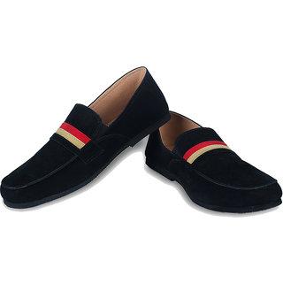 Ysmipl Men's Black Slip On Casual Shoes