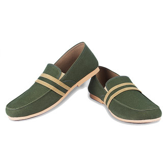 Ysmipl Men's Green Slip On Casual Shoes
