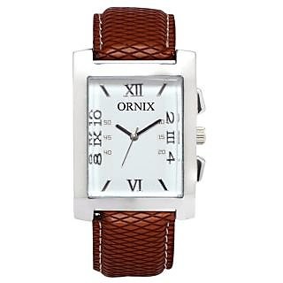 ORNIX IMPARL-101 LEATHER ANALOG WATCH FOR MEN