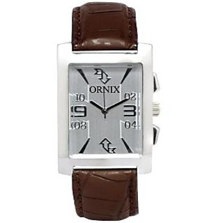 ORNIX IMPARL-102 LEATHER ANALOG WATCH FOR MEN