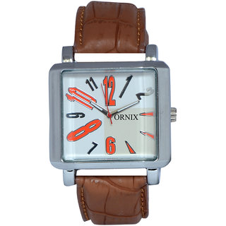 ORNIX SPORTS-203 LEATHER ANALOG WATCH FOR MEN