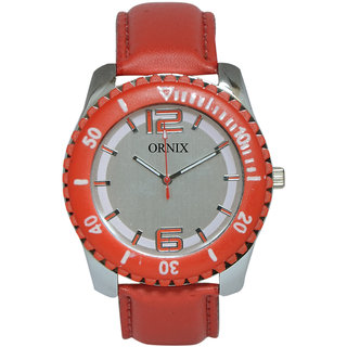 ORNIX SPORTS-301 LEATHER ANALOG WATCH FOR MEN