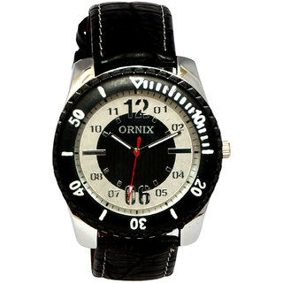 ORNIX SPORTS-303 LEATHER ANALOG WATCH FOR MEN