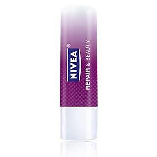 Nivea Combo Of Repair Beauty Lip Balm And Essential Care Lip Balm 4.8 Gm