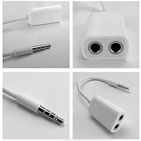 3.5mm Stereo Audio Earphone Splitter Cable Adapter For