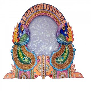 Handmade Decorative Photo frame with two peacock