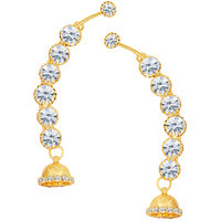 Sikka Jewels Briliant Gold Plated Australian Diamond Earcuff