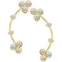 Sikka Jewels Incredible Gold Plated Australian Diamond Earcuff