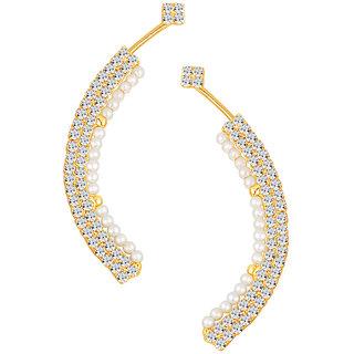 Sikka Jewels Fabulous Gold Plated Australian Diamond Earcuff