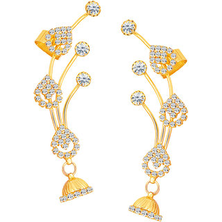 Sikka Jewels Youthful Gold Plated Australian Diamond Earcuff