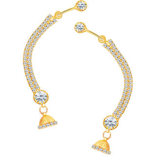 Sikka Jewels Traditionally Gold Plated Australian Diamond Earcuff