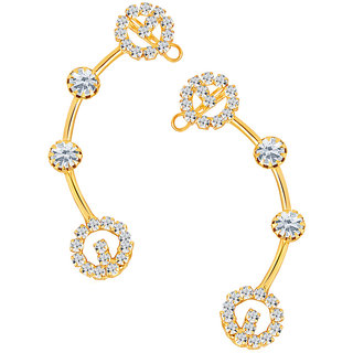 Sikka Jewels Beguiling Gold Plated Australian Diamond Earcuff