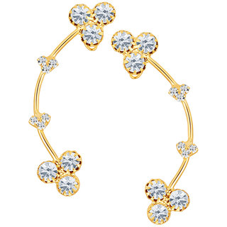 Sikka Jewels Incredible Gold Plated Australian Diamond Earcuff