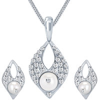 Sikka Silver Plated  Silver Pendants Chains For Women