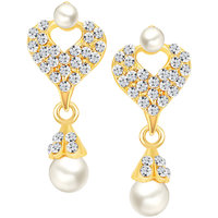 Sikka Jewels Party Wear Gold Plated Gold Alloy Designer Drops For Women