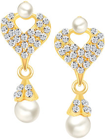 Gold Plated Alloy Drops Earrings By Sikka Jewels