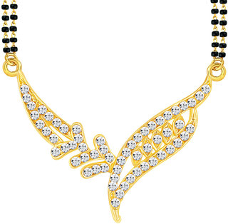 Sikka Jewels Gold Plated Gold Alloy Only Mangalsutra for Women