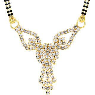 Sikka jewels stunning gold plated australian diamond mangalsutra pendant aloadofball Images