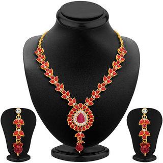 Sikka Jewels Astonishing Gold Plated Australian Diamond Necklace Set