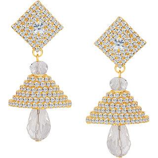 Sikka Jewels Fine Gold Plated Australian Diamond Earring