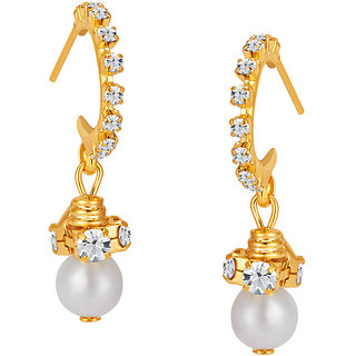 Sikka Jewels Gold Plated Gold Alloy Drops for Women