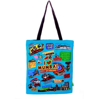 Big Coloured mumbai Cotton Bag