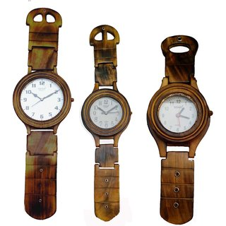 Wall clock set of 3 pcs @price on One......