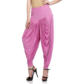 Sakhi Sang Pink Viscose Lycra Dhoti Salwar