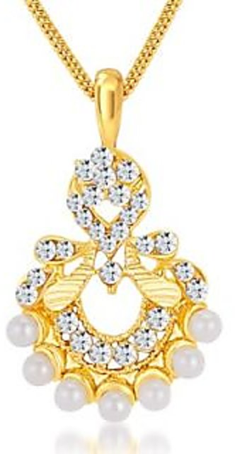 738b857b5d10a Sikka Gold Plated Gold Pendants Chains For Women