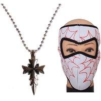 Jstarmart Fancy Pendent Necklace Combo White Face Mask JSMFHNL0156