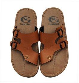 Mens Brown Slip On Sandals