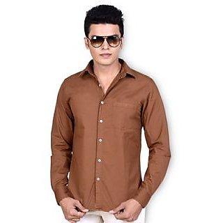 Speak Mustard Plain Twill Cotton Shirt (SPK9219TF39)