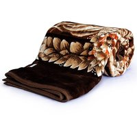 Bagru Crafts Beautiful Floral Designer Double Bed Mink Blanket