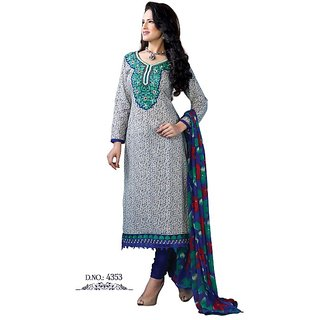 RLF Embroidered Dress Material (Unstitched)