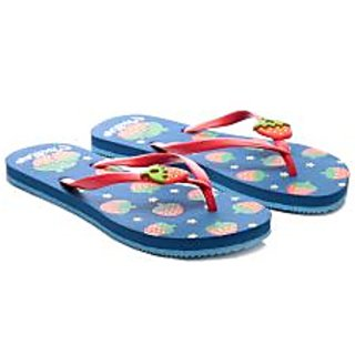 Nell Chic Ladies Blue Flip Flops
