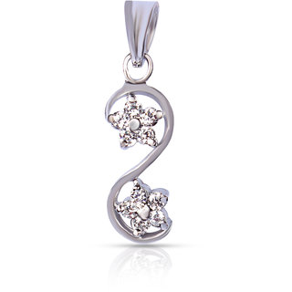 Zevrr Sterling Silver Pendant Made With Swarocski Zirconia (Pzsp03057)