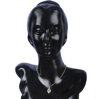 Zevrr Sterling Silver Pendant Made With Swarocski Zirconia (Pzsp03055)
