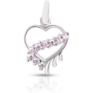 Zevrr Sterling Silver Pendant Made With Swarocski Zirconia (Pzsp03032)