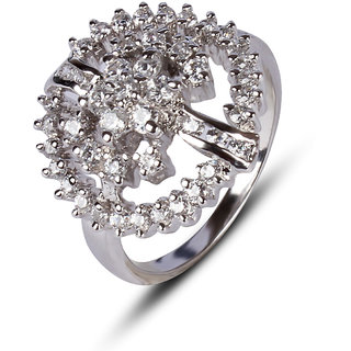 Zevrr Sterling Silver Ring made with SWAROCSKI ZIRCONIA (PZSR01006)