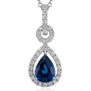 Zevrr Sterling Silver Pendant Made With Swarocski Zirconia (Pzsp03096)