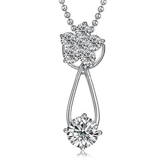 Zevrr Sterling Silver Pendant Made With Swarocski Zirconia (Pzsp03173)