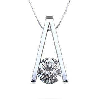 Zevrr Sterling Silver Pendant Made With Swarocski Zirconia (Pzsp03183)