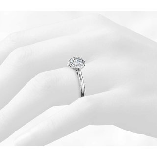 Zevrr Sterling Silver Ring made with SWAROCSKI ZIRCONIA (PZSR01496)