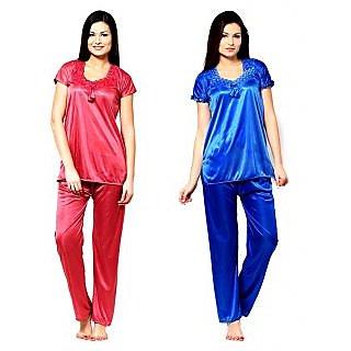 Buy Shararat Satin Nighty Night Gowns -Baby Pink Online - Get 42% Off 690dca632