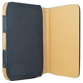 Totta Pu Leather Belt Pouch For Intex Aqua Slice-Black
