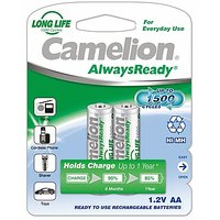 Camelion NH-AA1000 ARBP2 Rechargeable Battery(Free 1 Pack Of Alkaline Battery)